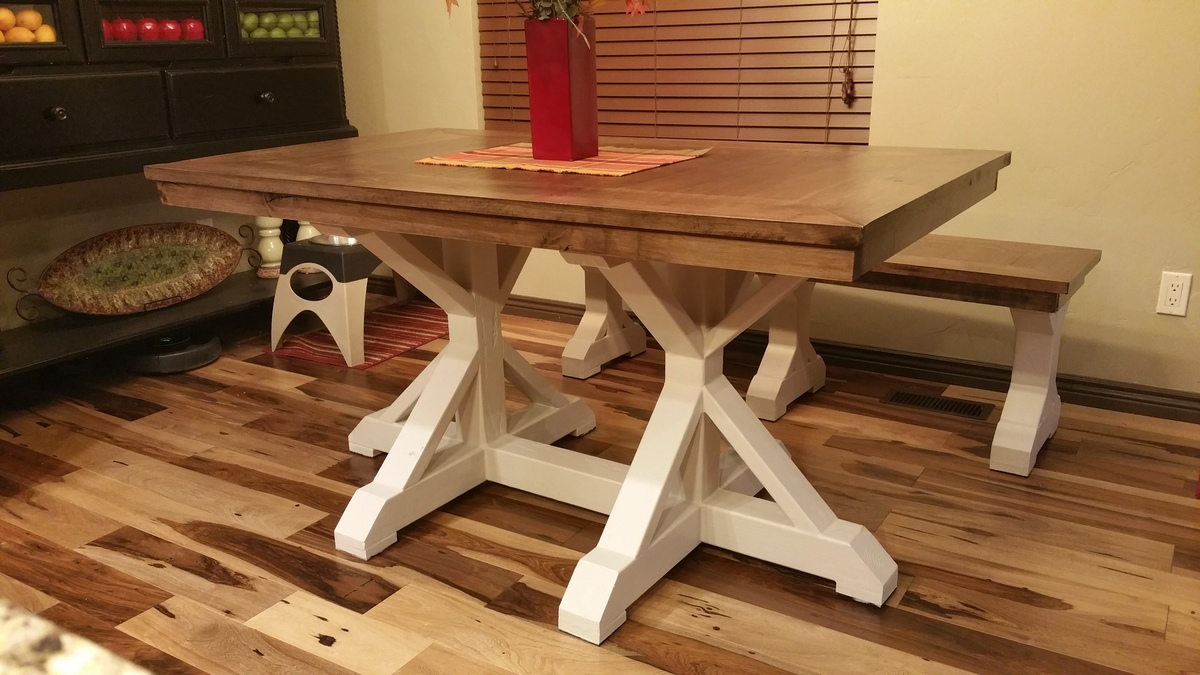 Ana white restoration hardware dining table diy projects