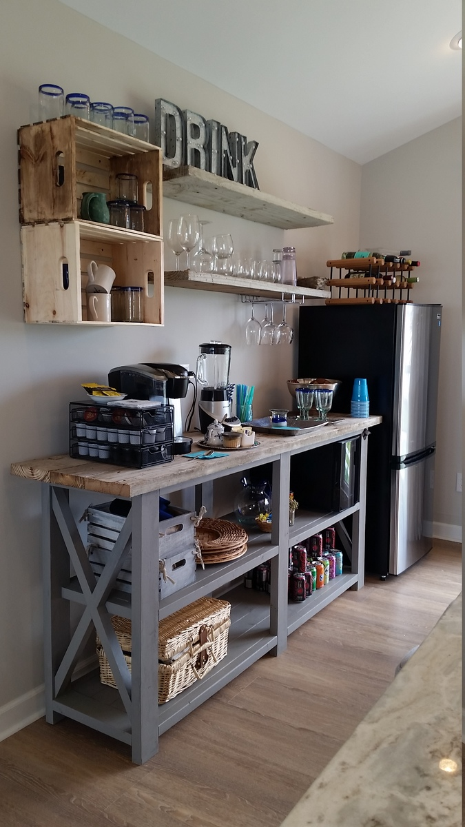 Ana white rustic x beach beverage center diy projects for To do board for kitchen