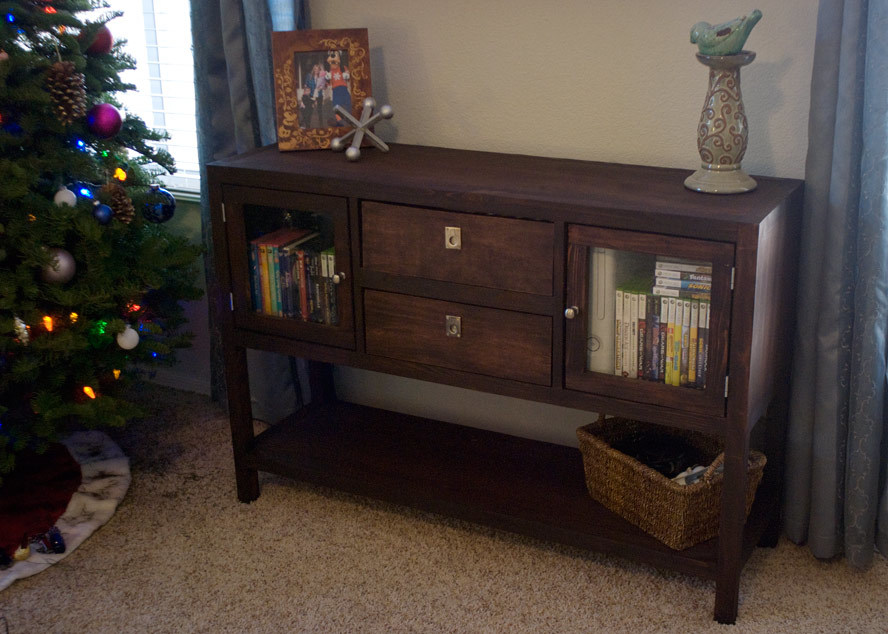 pottery barn white tv stand ana white rhyan console table diy projects