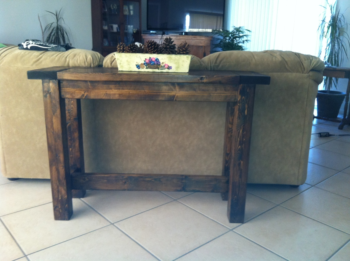 Ana white tryde console table diy projects tryde console table geotapseo Choice Image