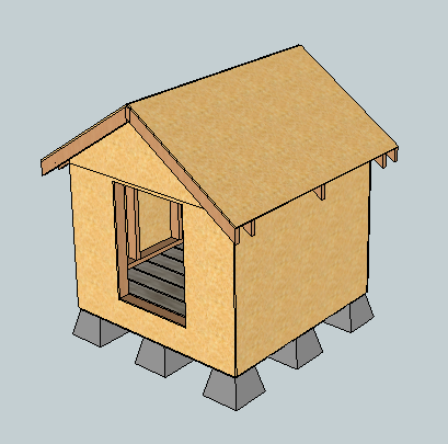 Ana White | East Fork Free Doghouse (or Playhouse or Storage Shed ...