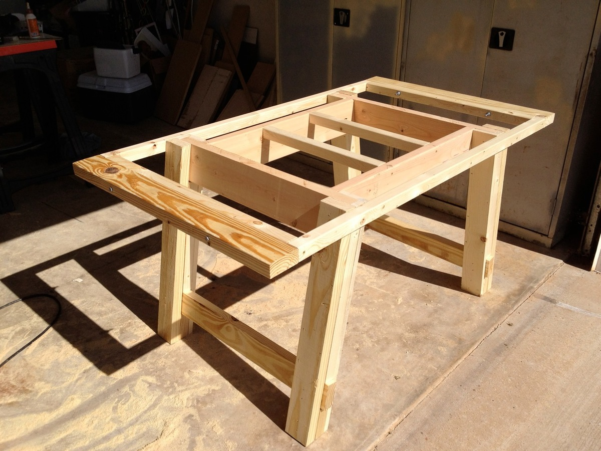 Ana white benchwright farmhouse table and bench diy for Ana white table bench