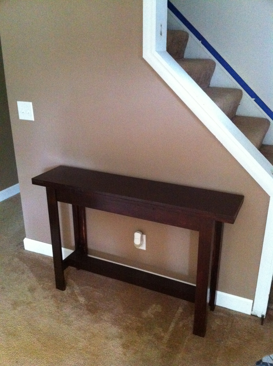 Ana white console table diy projects console table geotapseo Choice Image