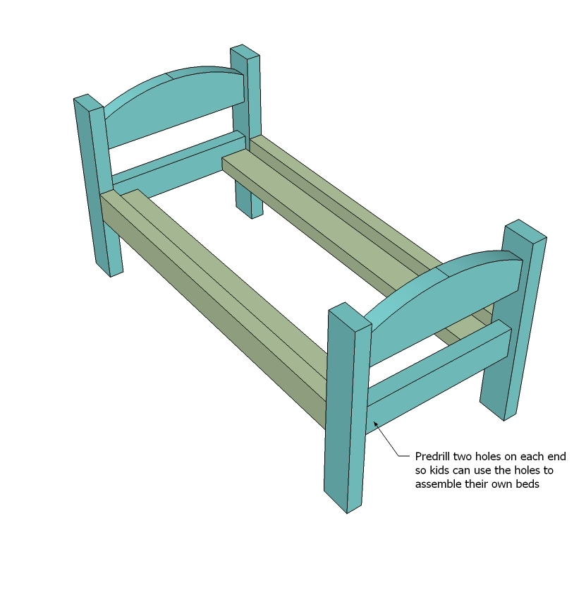 how to make a miniature bunk bed