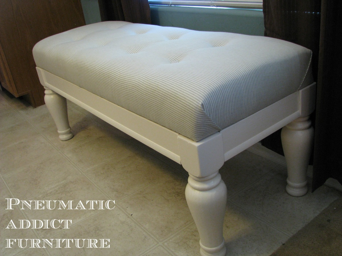 ana white  tufted upholstered benches  diy projects - additional photos