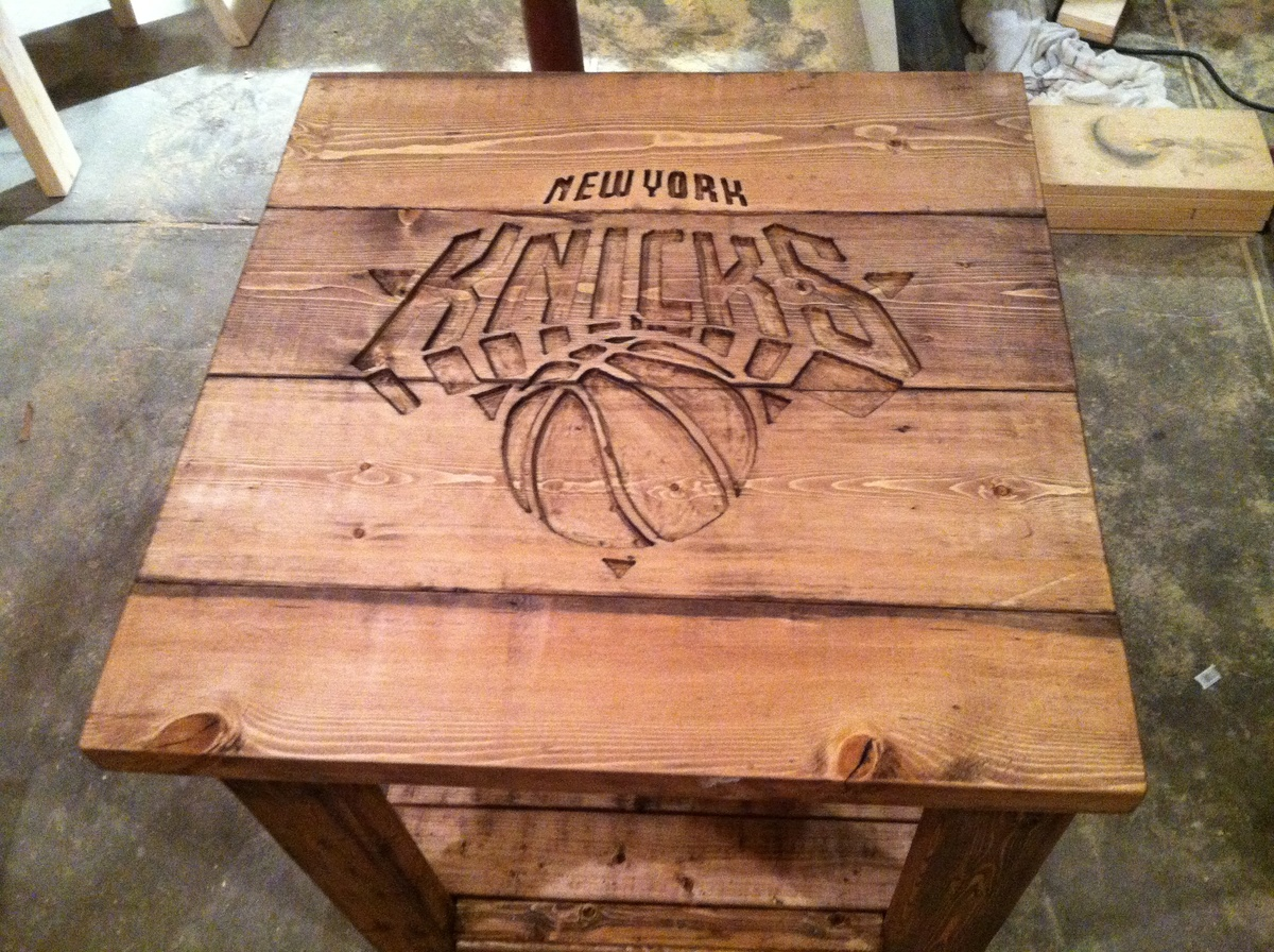 Rustic logo end table