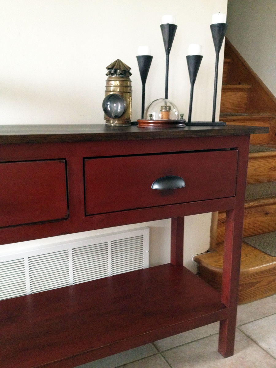 Ana white my first build console table from the handbuilt home my first build console table from the handbuilt home geotapseo Choice Image