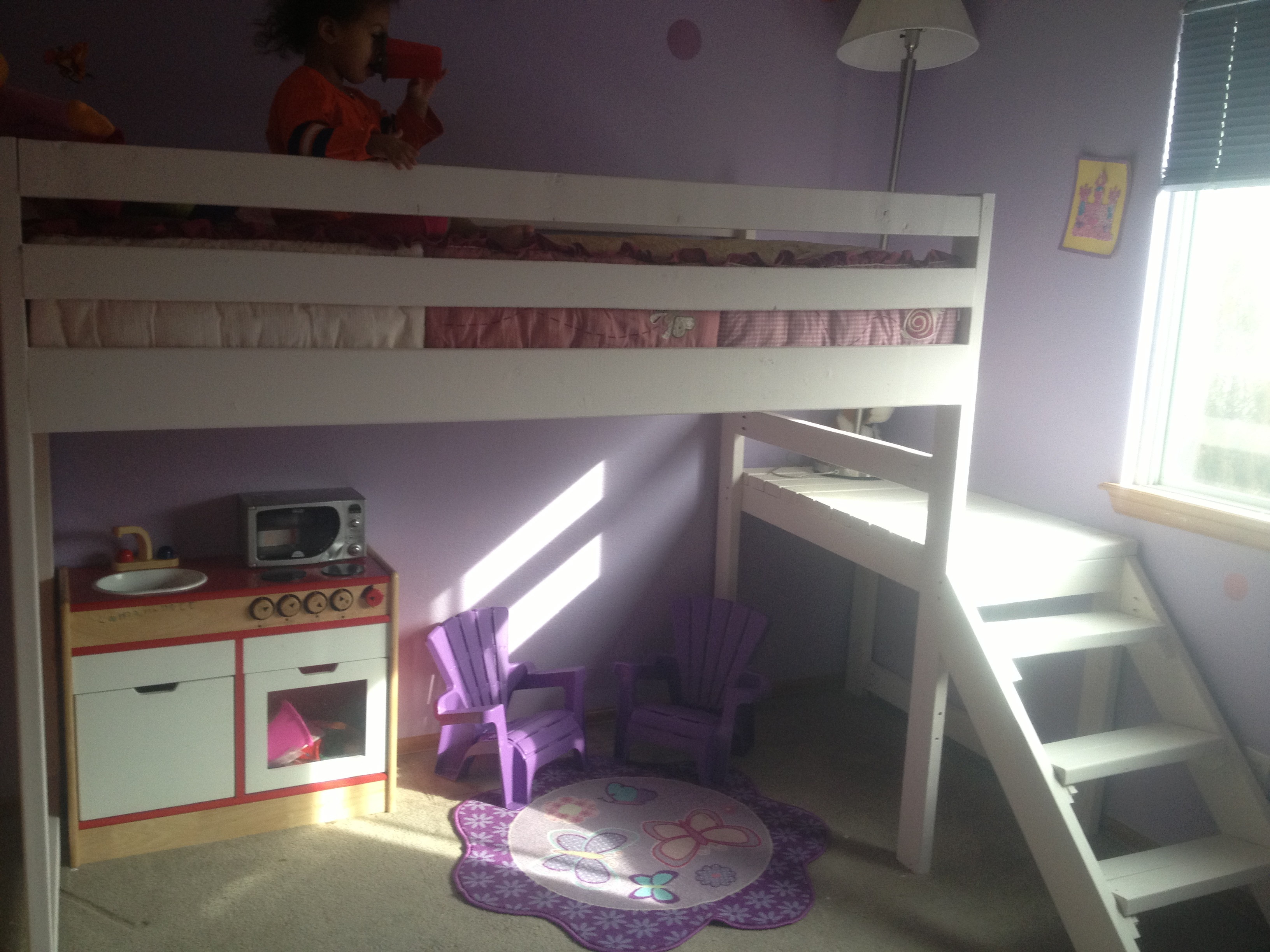 Ana White Camp Loft Bed With Side Stairs And Landing