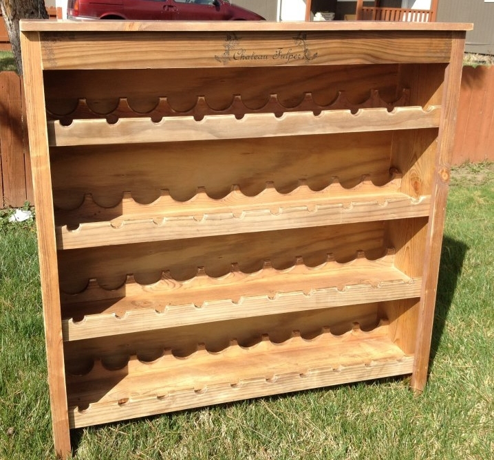 Do It Yourself Home Design: Rustic Wine Rack - DIY Projects