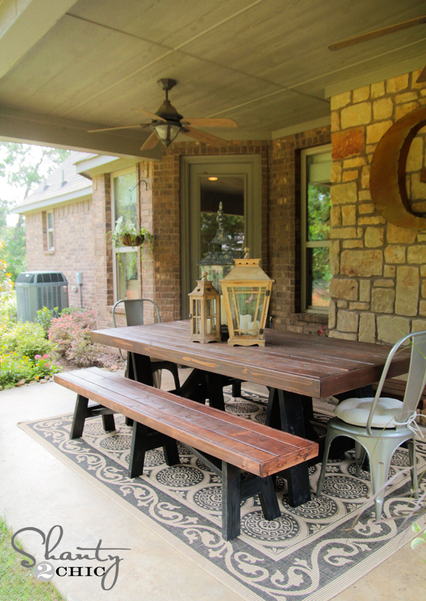 Ana White   Sawhorse Outdoor Bench - DIY Projects