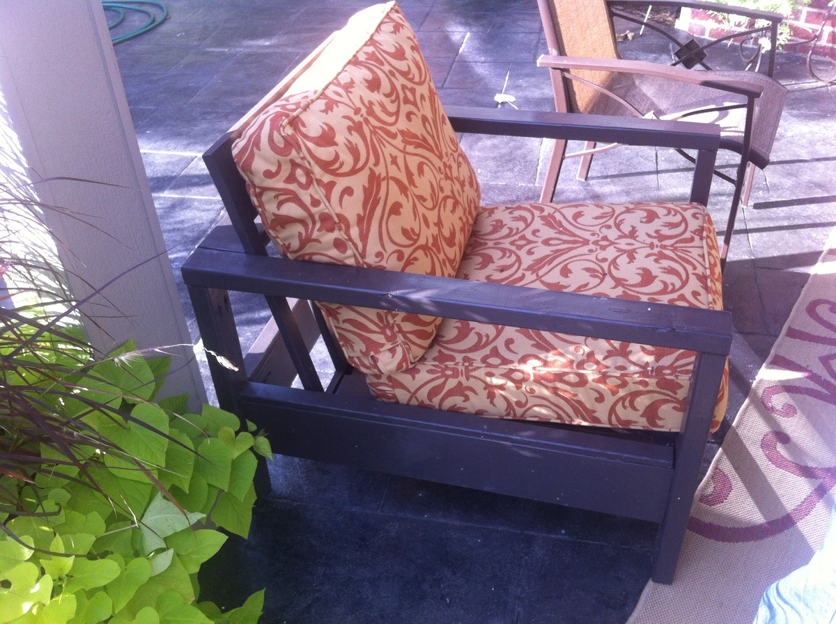 Ana White Outdoor Sofa And Single Chair Diy Projects