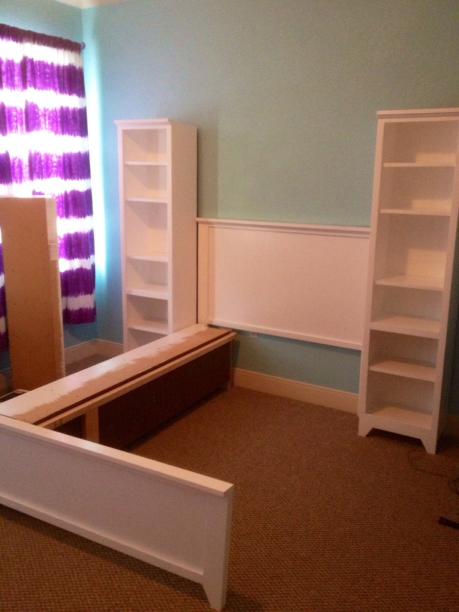 Complete Full Sized Hailey Bed And Storage