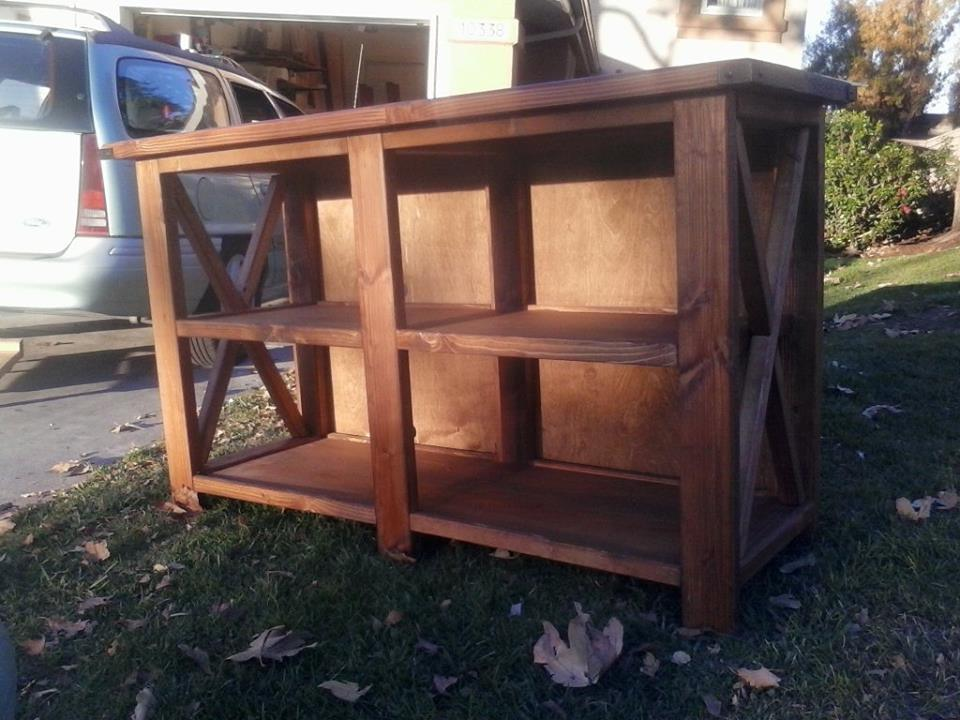 Console table made slightly larger then the plan specs also added a