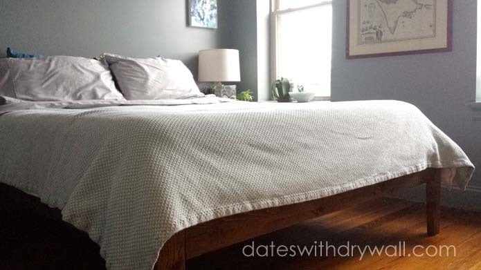 diy midcentury bed modus newport bed knockoff - Mid Century Bed Frame