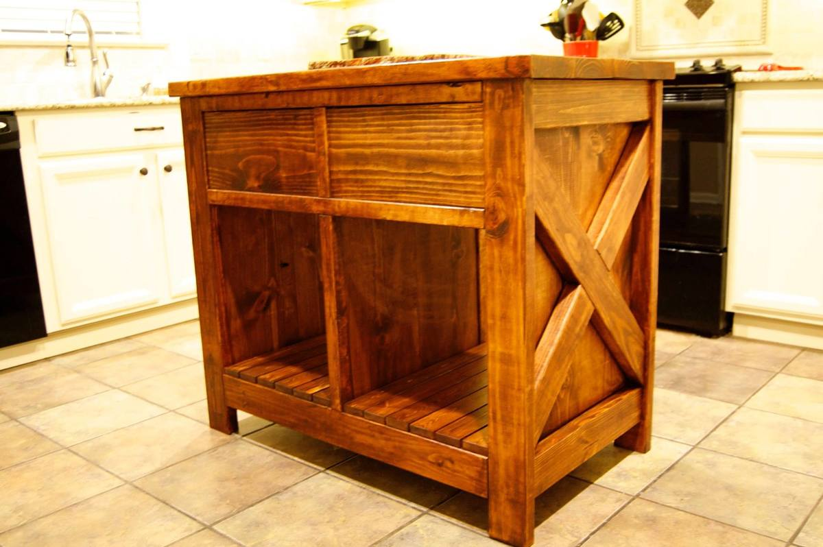 Kitchen Island Diy Projects: Modified Rustic X Kitchen Island - DIY Projects