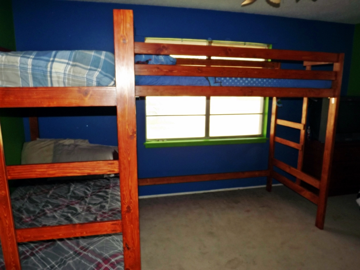 Ana White Bunk Loft Bed Combo Diy Projects