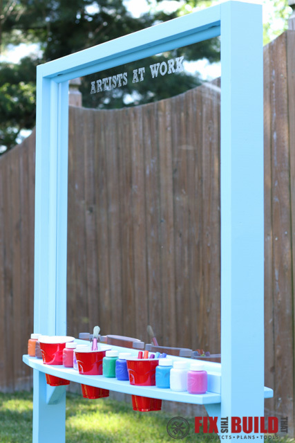 ana white outdoor acrylic easel diy projects