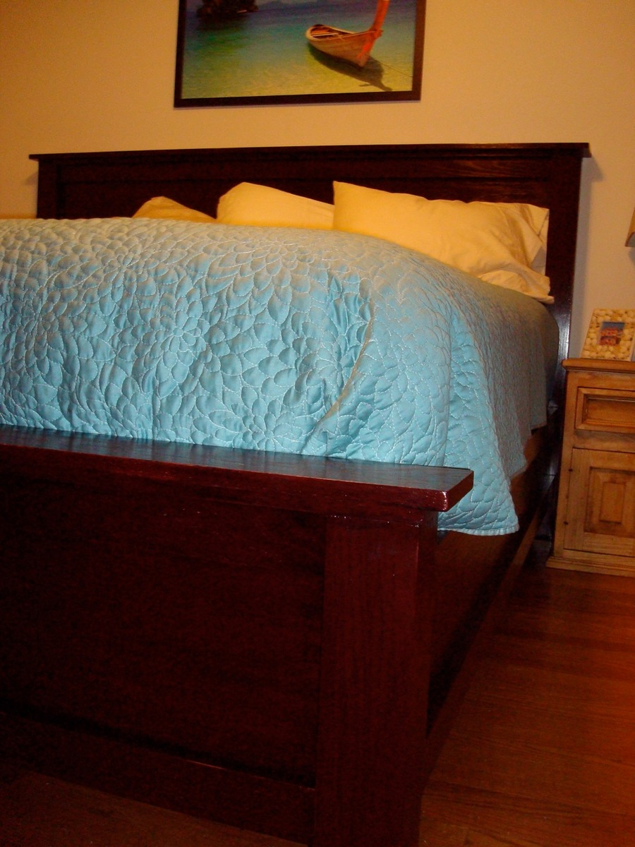 Ana White Modified Farmhouse Bed My First Time