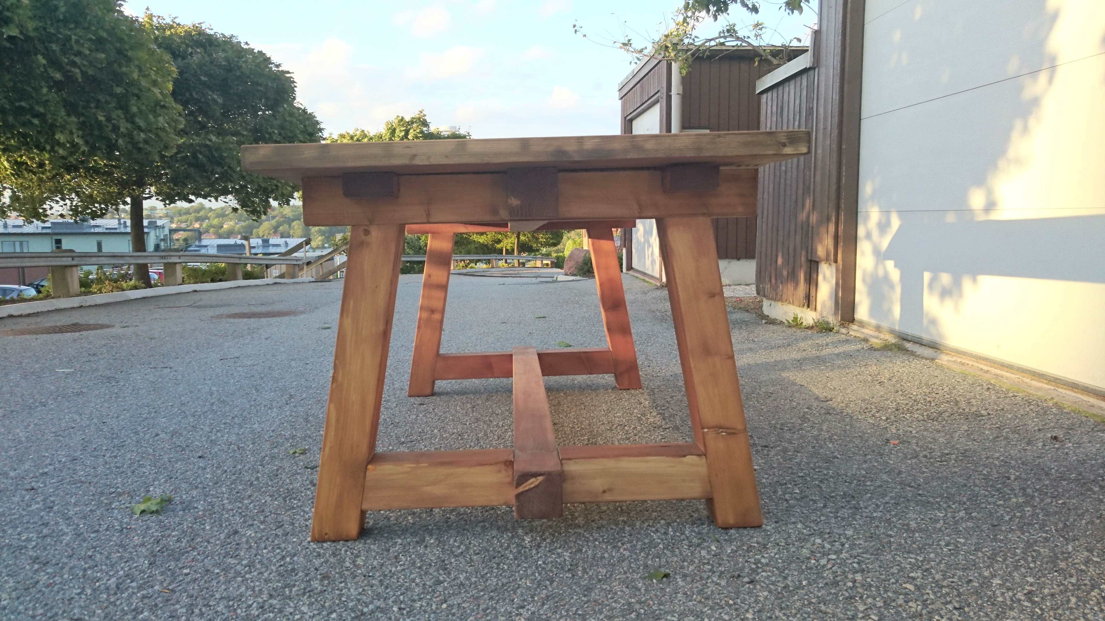 ana white rustic truss outdoor table diy projects. Black Bedroom Furniture Sets. Home Design Ideas