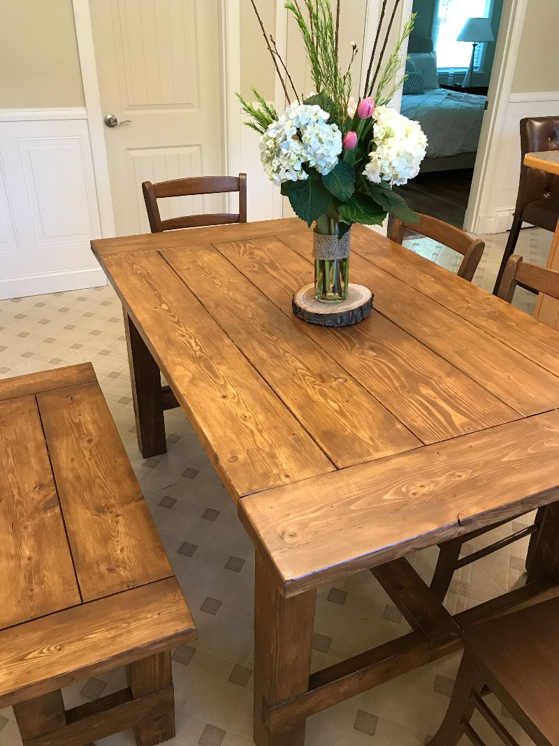 Ana white farm table and bench diy projects for Ana white table bench