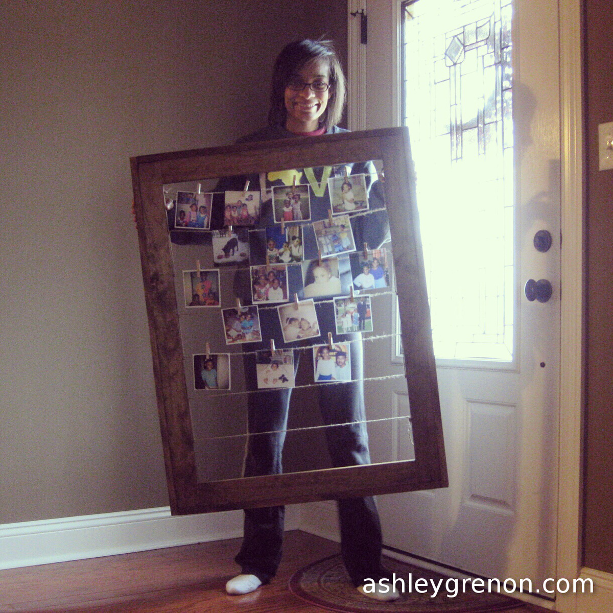 Ana White   Ashley Makes: Clothesline Picture Frame - DIY Projects