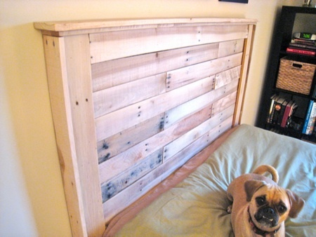 ana white  reclaimed wood headboard from pallets  diy projects, Headboard designs