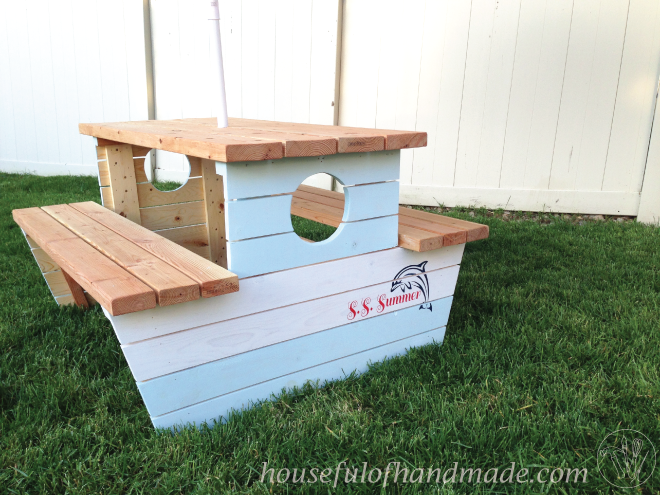 Ana White Nautical Picnic Table For Bigger Kids DIY Projects