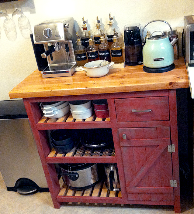 Ana White Coffee Bar Based On Easy Kitchen Island Diy Projects