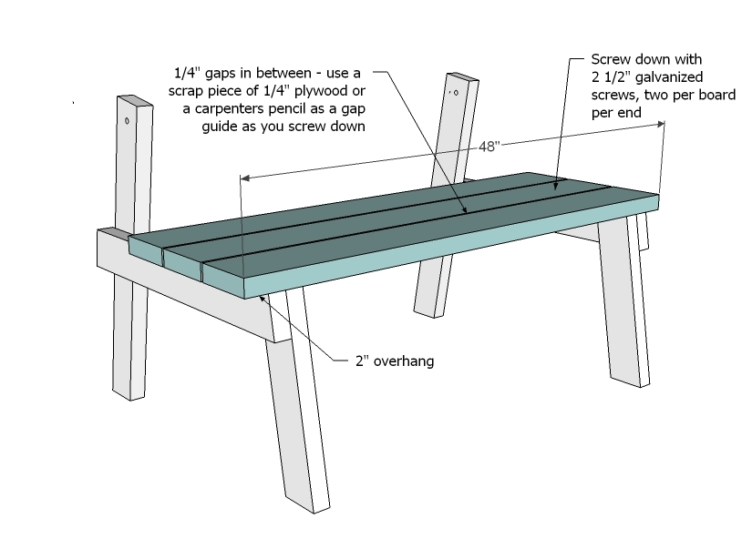 Ana white picnic table that converts to benches diy projects watchthetrailerfo