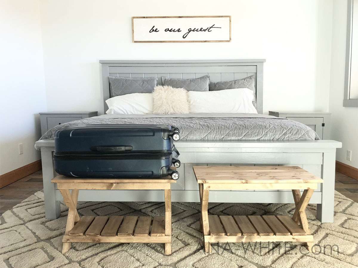 Upgraded Luggage Rack Or Suitcase Stand Benches