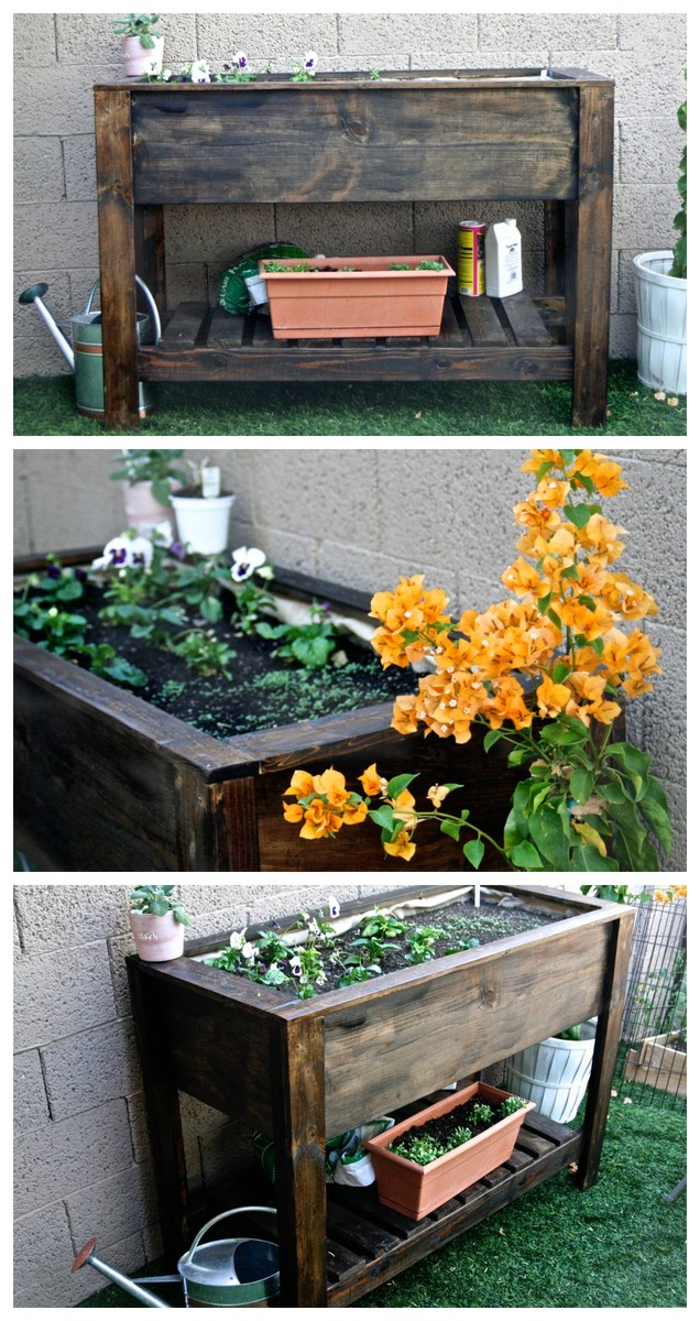 ana white raised planter box diy projects. Black Bedroom Furniture Sets. Home Design Ideas