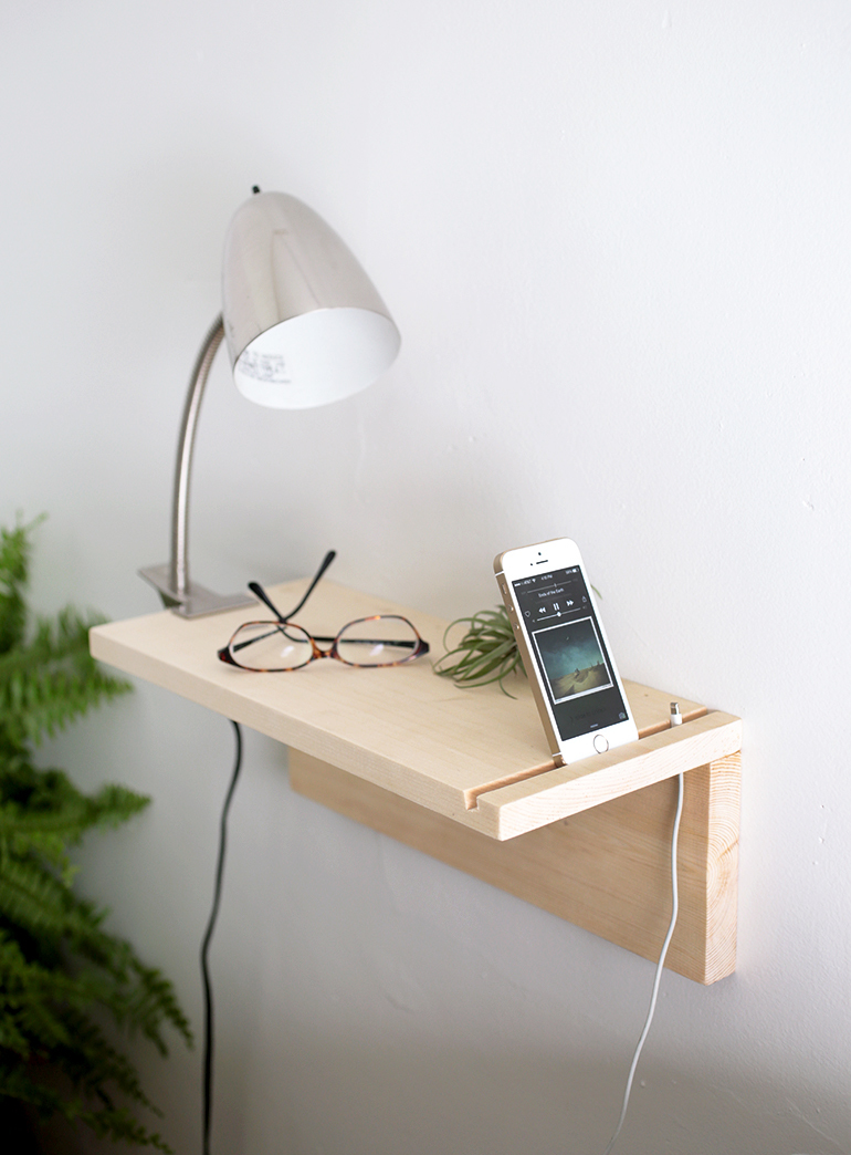 Diy Nightstand Part - 44: DIY Floating Nightstand Featuring The Merry Thought