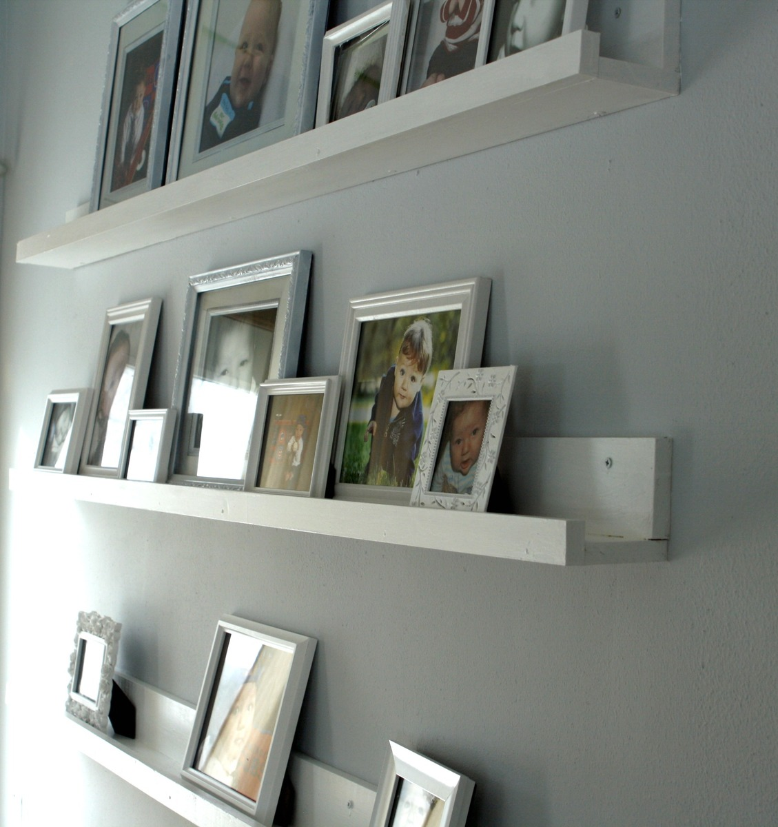 Ana white 10 dollar ledges diy projects for Wall shelves and ledges