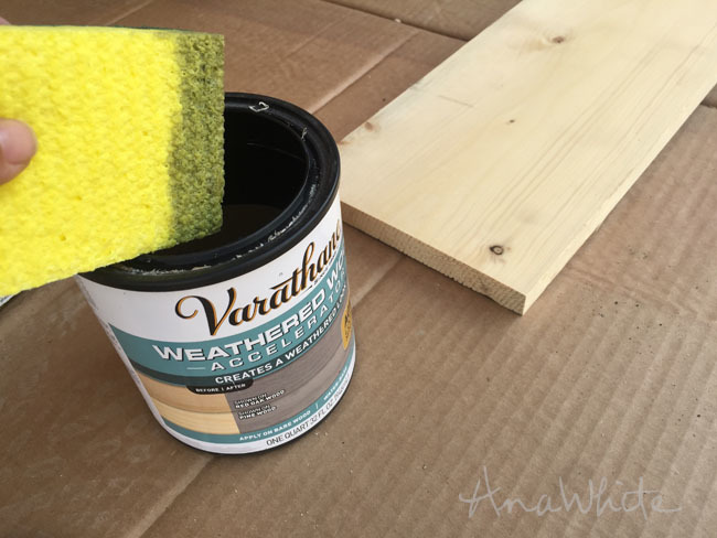 Heres What Happened When I Applied Varathane Weathered Wood Accelerator To A Bare Spruce Board