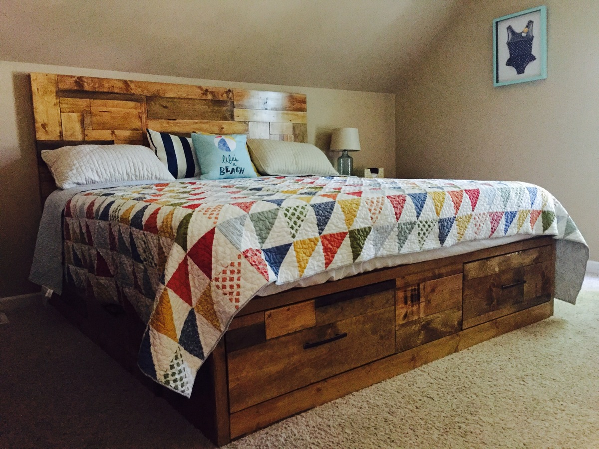 Ana White King Size Brandy Scrap Wood Bed Diy Projects