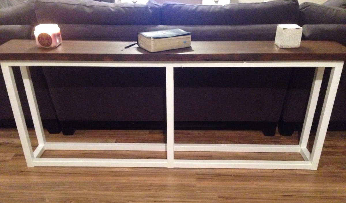 Ana white sofa table diy projects additional photos geotapseo Choice Image