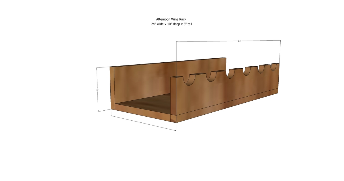ana white afternoon wine rack diy projects. Black Bedroom Furniture Sets. Home Design Ideas
