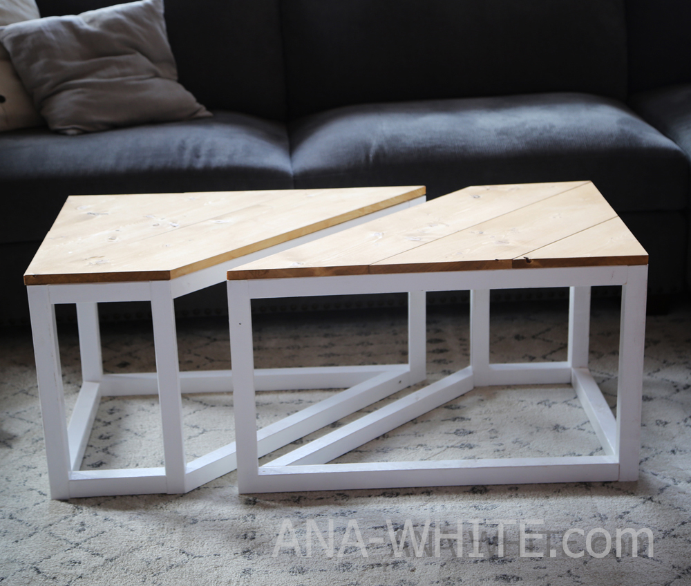 Industrial Coffee Table White: Split Industrial Coffee Table - DIY Projects