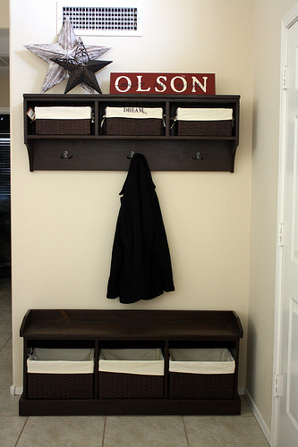 Entryway Bench And Storage Shelf With Hooks Ana White
