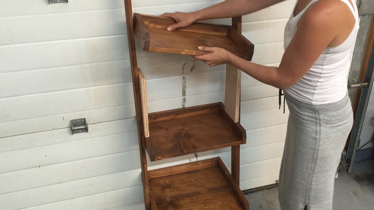 Ana White   Leaning Ladder Wall Bookshelf - DIY Projects