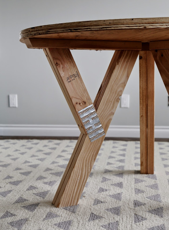 Ana White   Y Truss Round Table - DIY Projects