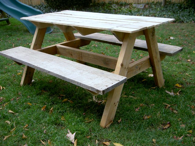 kids picnic table | Do It Yourself Home Projects from Ana White