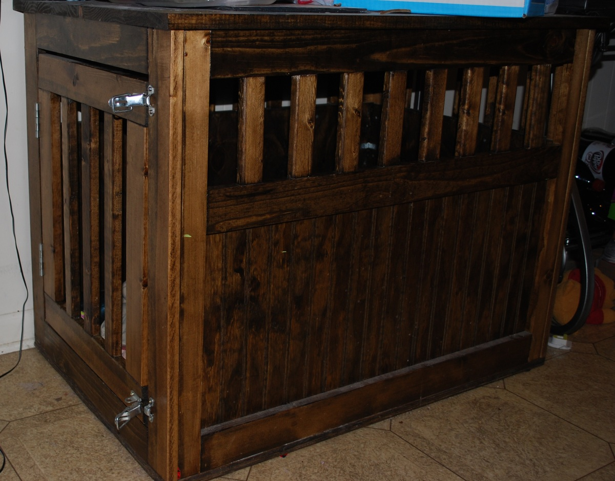 Dog Console Table ~ Ana white dog kennel diy projects