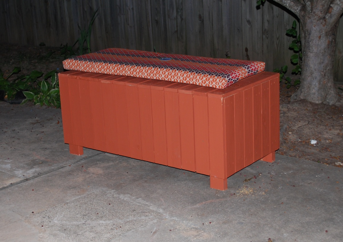 More Free Outdoor Storage Bench Plans
