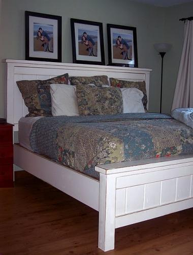 i have since made several farmhouse beds and am always very happy with this particular furniture plani spent a total of 120 on this bed - White Queen Bed Frame
