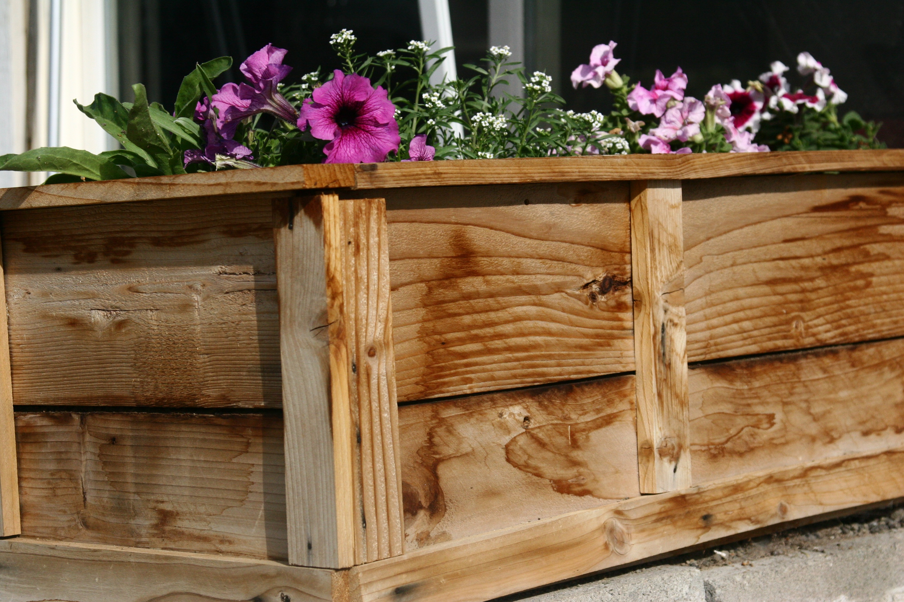 Ana white raised flower planter beds diy projects for Raised flower bed plans