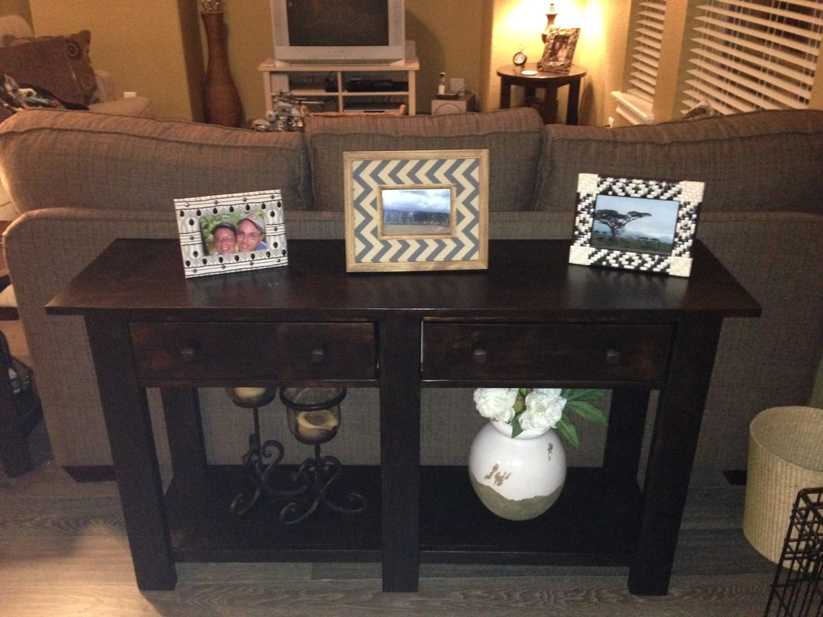 Charming PotteryBarn Benchwright Console TAble