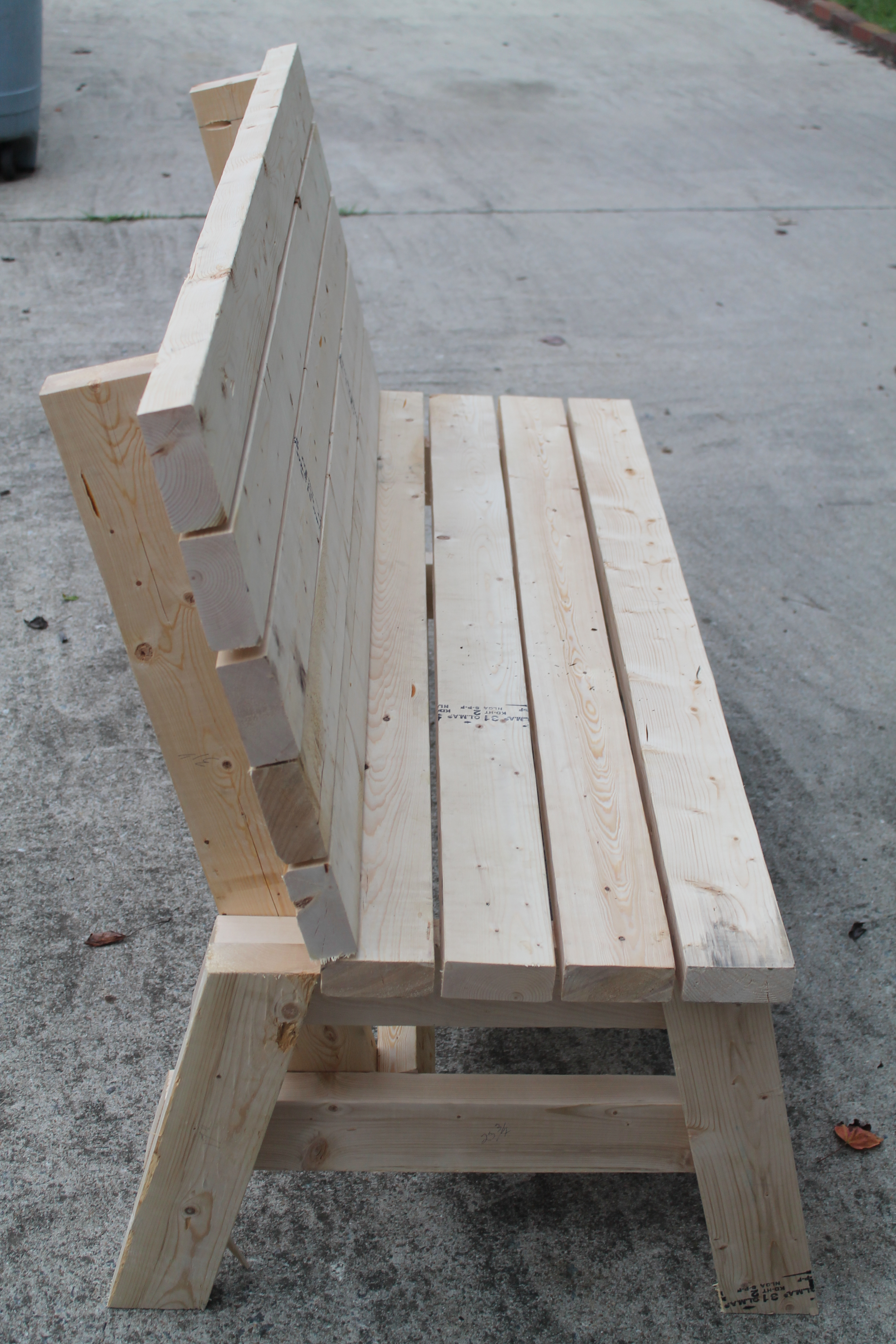 Ana White Simple 2x4 Bench Diy Projects