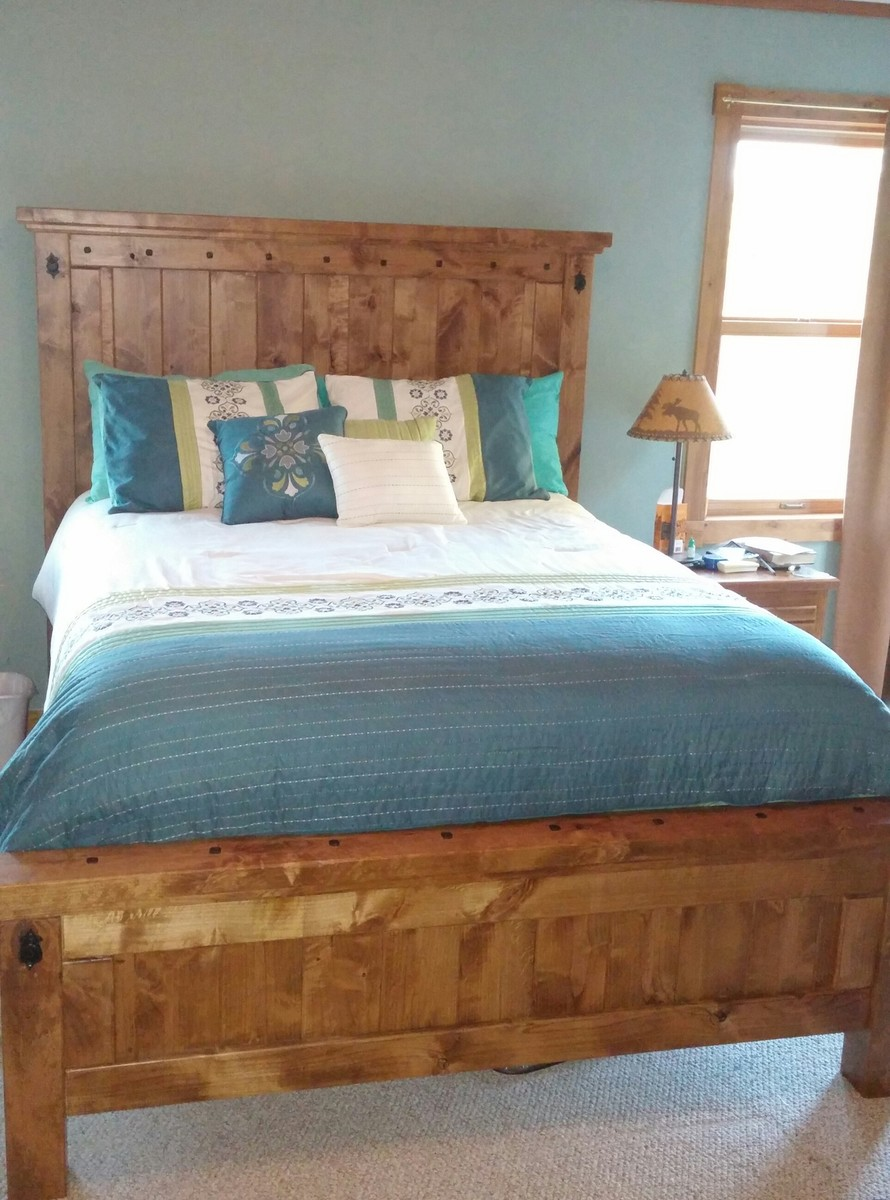 Ana White   My rustic Farmhouse queen bed   DIY Projects