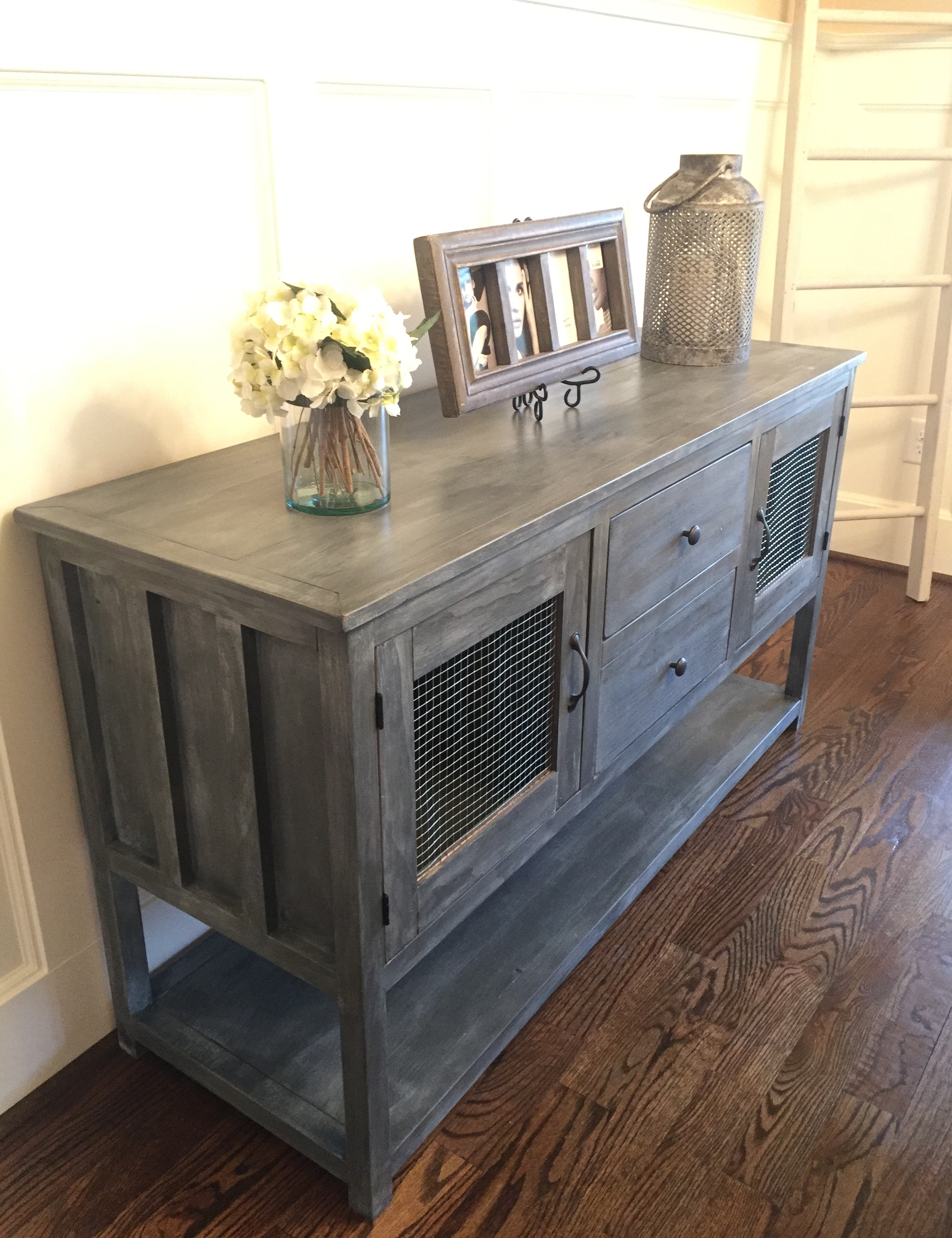 Do It Yourself Divas Diy Kitchen Table Makeover: Farmhouse Buffet From Altered Cabin Dresser
